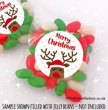 Christmas Table Favours Sweet Bags Kits Little Rudolf Polka Dots x 12
