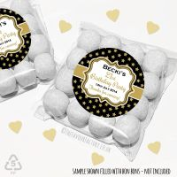 Adult Birthday Party Favours Sweet Bags Kits Gold Stars x 12