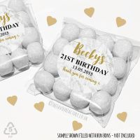 Adult Birthday Party Favours Sweet Bags Kits Marble print x 12