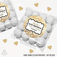 Adult Birthday Party Favours Sweet Bags Kits Gold Bokeh Sparkles x 12