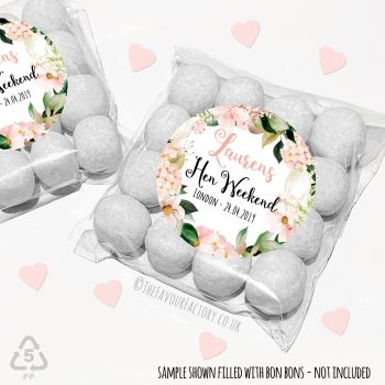 Hen Party Sweet Bags Kits Boho Blush Hydrangeas Florals x 12