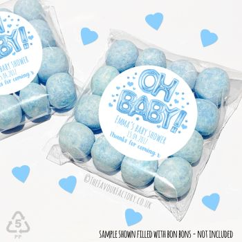 Baby Shower Sweet Bags Favours Kits Oh Baby Blue Balloons x 12
