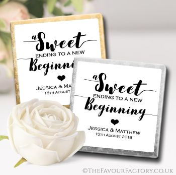 Wedding Chocolates Favours Personalised Sweet Ending x10