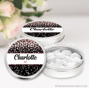 Hen Party Favours Keepsakes Tins Personalised Confetti Diamonds x1