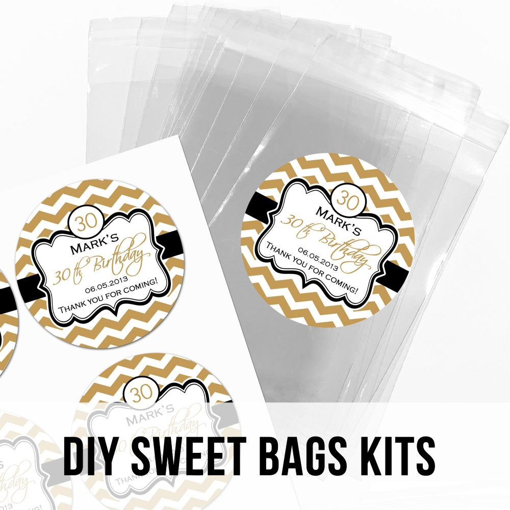 Adult Birthday Party Favour Bags