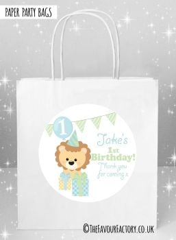 Kids Party Bags Boys Lion with Presents x5