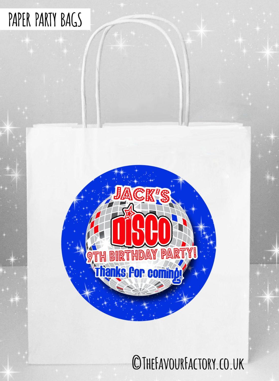 Kids Party Bags Blue Disco x5