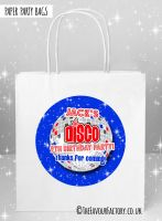 Kids Party Bags Blue Disco x5
