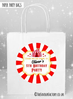 Kids Party Bags Carnival Circus Tent x5