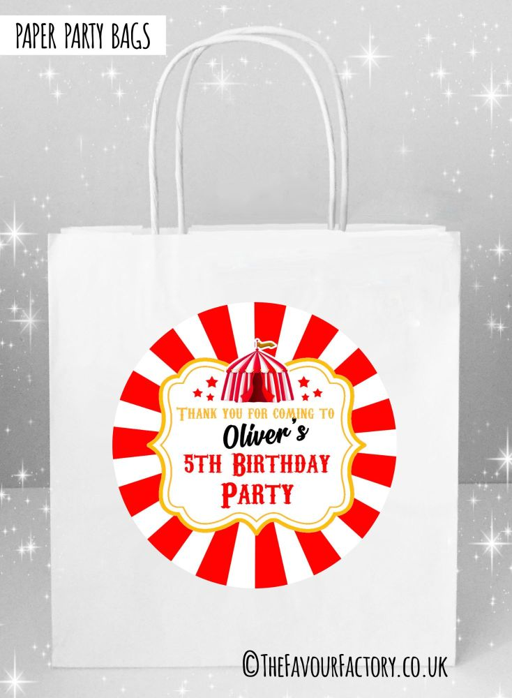 Kids Party Bags Carnival Circus Tent x1