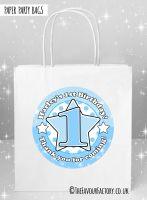 Age Star Blue Kids Party Bags x1