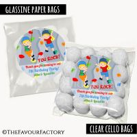 Kids Party Favours Sweet Bags Kits Boys Rock Climbing  x12