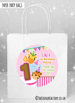 Kids Party Bags Birthday Animal Friends Girls x5