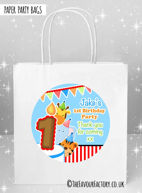 Kids Party Bags Birthday Animal Friends Boys x5