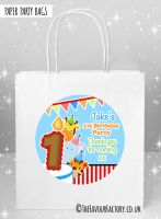 Kids Party Bags Birthday Animal Friends Boys x1