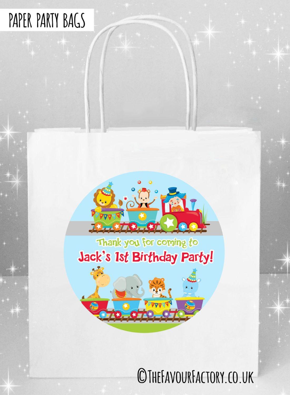 Kids Party Bags Birthday Train x5