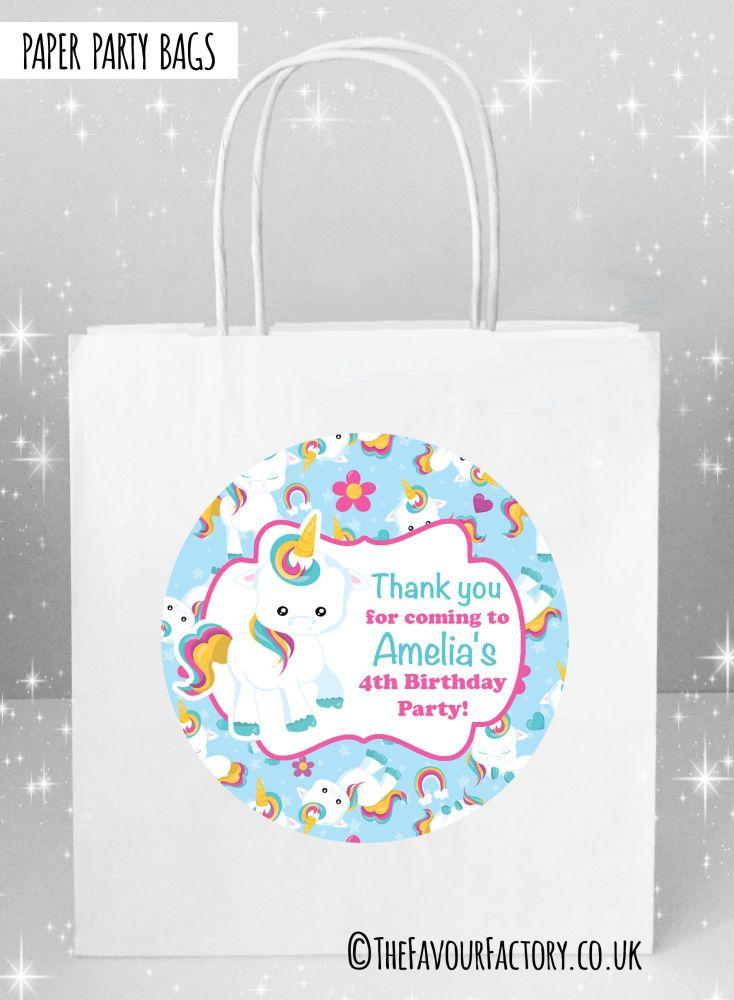Baby Unicorn Kids Party Bags x1