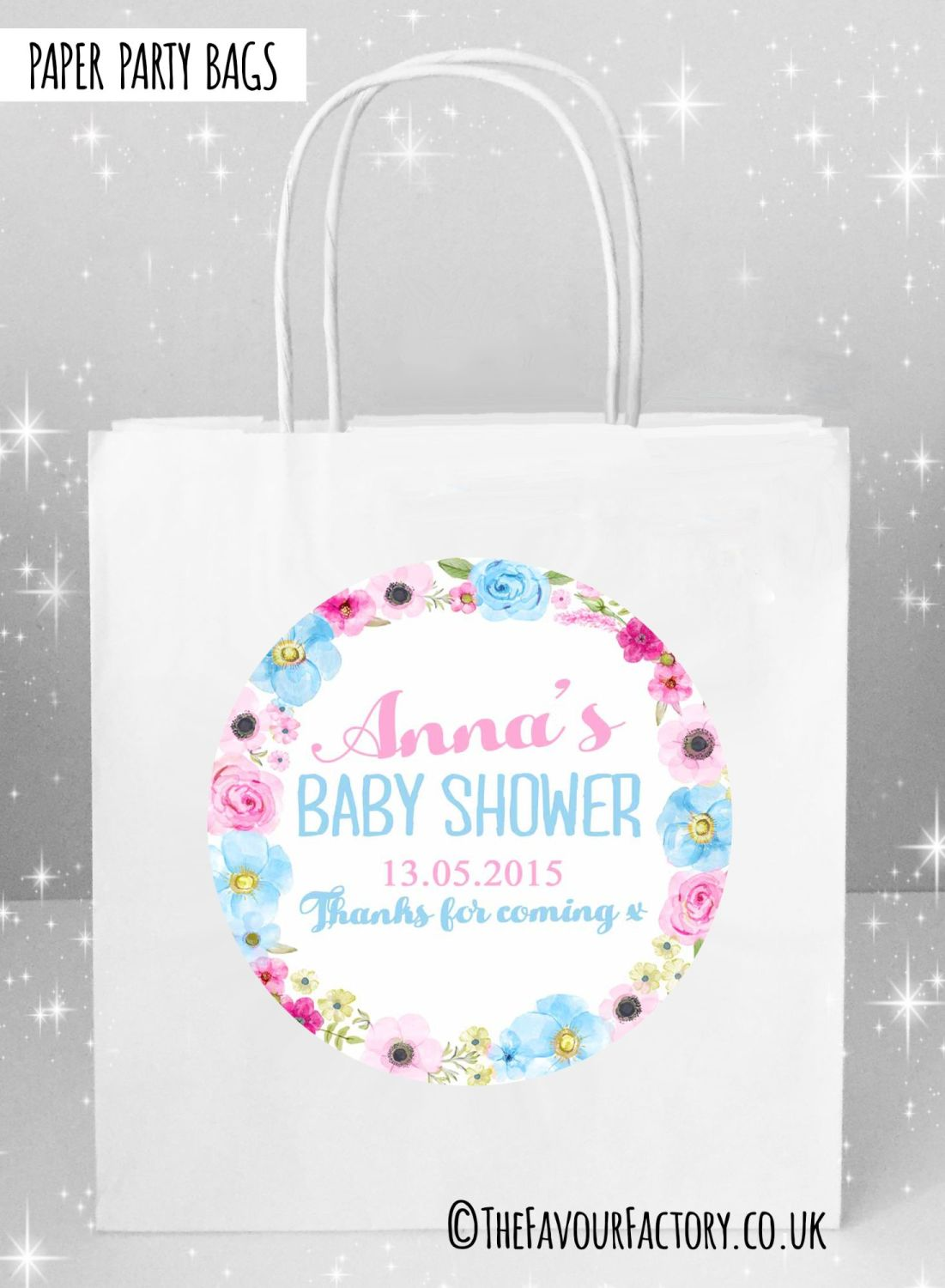 Baby Shower Party Bags  x5