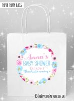 Baby Shower Party Bags Anna Floral Wreath x5