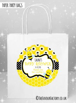 Baby Shower Party Bags Bumble Bees x5
