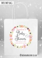 Baby Shower Party Bags Jessica Floral Wreath x5