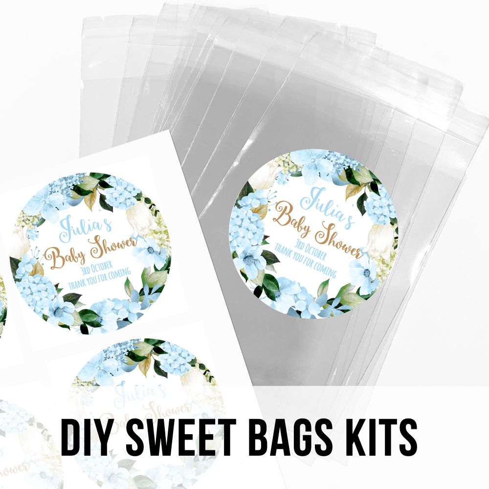 Personalised Baby Shower DIY Sweet Bags Kits