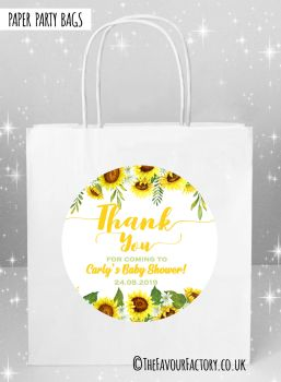 Baby Shower Party Bags Sunflowers x5