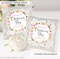 Christening Favours Sweet Bags Jessica Florals x12