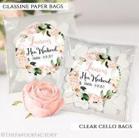 Blush Hydrangeas Hen Party Sweet Bags Kits x12