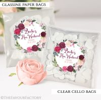 Burgundy Blush Floral Hen Party Sweet Bags Kits x12
