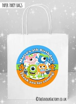 Kids Party Bags Party Monsters x5