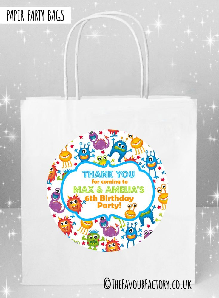 Kids Party Bags Lots of Monsters x1