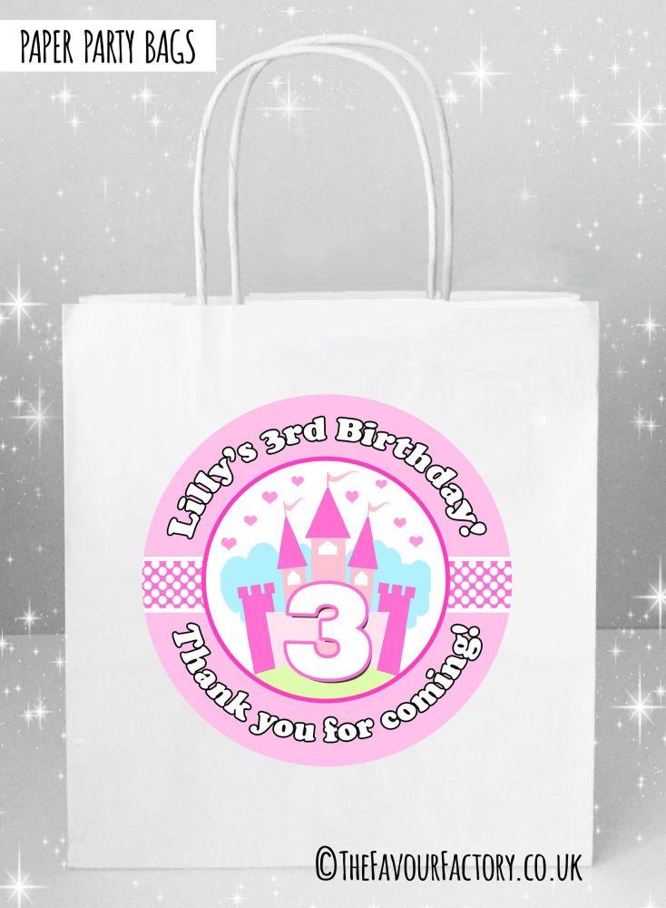 Kids Party Bags Princess Castle x1
