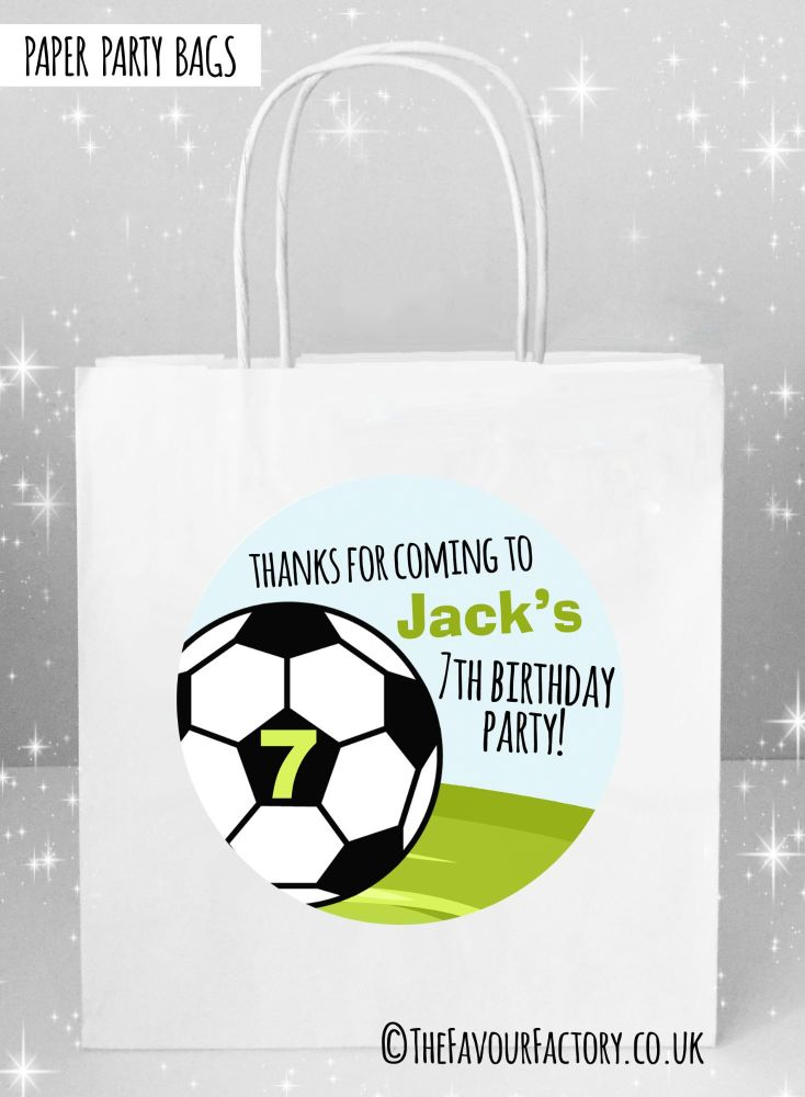 Kids Party Bags Football Age x1