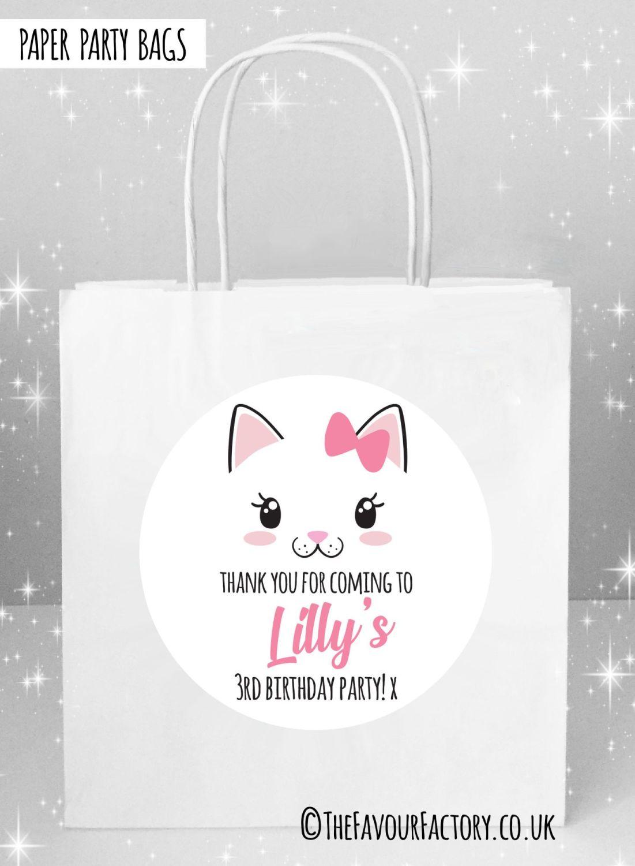Kids Party Bags Cat Face x5