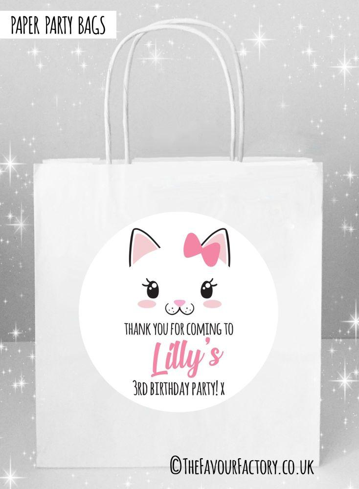 Kids Party Bags Cat Face x1