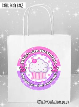 Kids Party Bags Cupcake x5