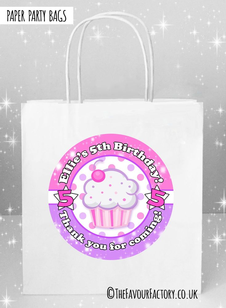 Kids Party Bags Cupcake x1