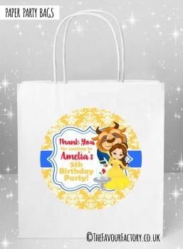 Kids Party Bags Beauty and the Beast Belle x5