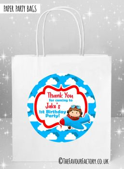 Kids Party Bags Flying Little Pilot x5
