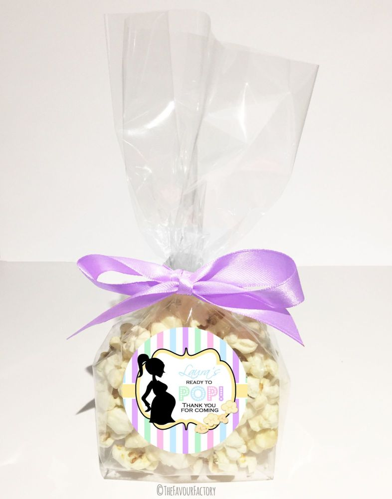 Personalised Baby Shower Favour Bags Kits Ready To Pop Pastels x12