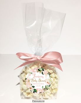 Baby Shower Popcorn Favour Bags Kits Ready To Pop Mummy Blue x12
