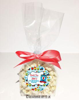 Kids Party Popcorn Treat Bags Kits Choo Choo Train x12