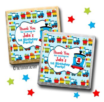 Kids Party Chocolates Favours Personalised Choo Choo Train x10