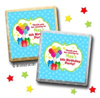 Kids Party Chocolates Favours Personalised Bunch of Balloons x10