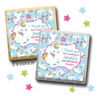 Kids Party Chocolates Favours Personalised Baby Unicorn x10