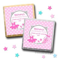 Kids Party Chocolates Favours Personalised Ballet x10