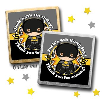 Kids Party Chocolates Favours Personalised Batman x10
