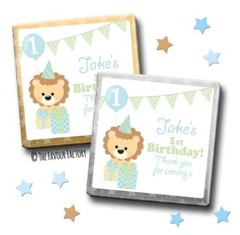 Kids Party Chocolates Favours Personalised Party Lion x10