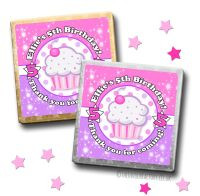 Kids Party Chocolates Favours Personalised Cupcake x10